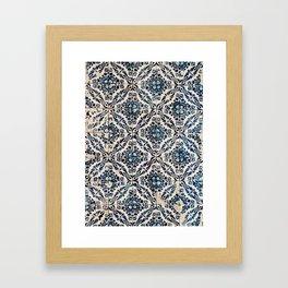 Azulejo IX - Portuguese hand painted tiles Framed Art Print