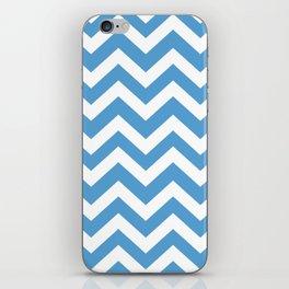 Carolina blue - blue color - Zigzag Chevron Pattern iPhone Skin
