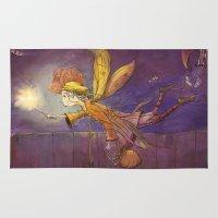 fairy Area & Throw Rugs featuring Fairy by András Balogh