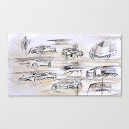 Cardesign Sketch Artwork Canvas Print