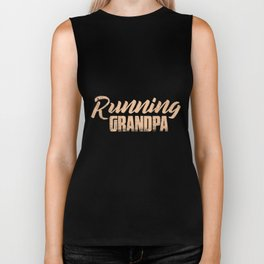 Running Grandpa | Runners Grandfather Men Jogger Biker Tank