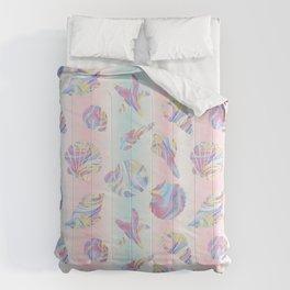 Pastel Rainbow Mermaid Seashells Comforters