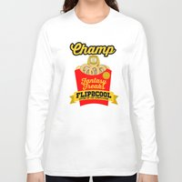 nba Long Sleeve T-shirts featuring NBA Fantasy Champ 2014 by Ric_Hardwood