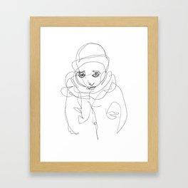 Winter Portrait #1 Framed Art Print