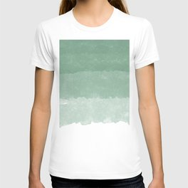 Modern lucite green abstract watercolor ombre pattern T-shirt