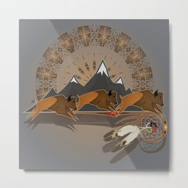 Native American Indian Buffalo Nation Metal Print