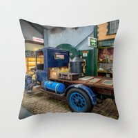 truck Throw Pillows featuring Vintage Truck by Adrian Evans