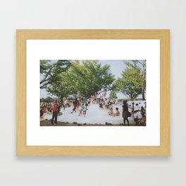 kids in the park Framed Art Print