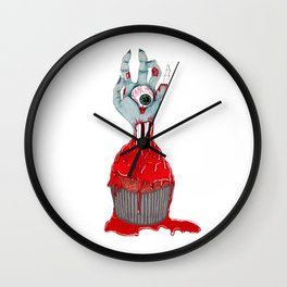 Cup Cake Zombie Wall Clock