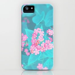 Forget Me Knot - Pink Heart little flowers iPhone Case