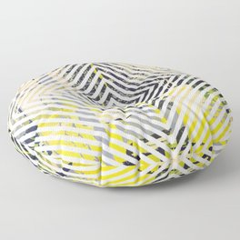 Sunday Morning - psychedelic graphic Floor Pillow