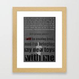 P.T. - Grey Framed Art Print