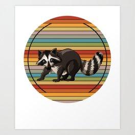 Raccoon Colorful Art Print