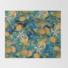 Orange Overload Throw Blanket
