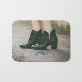 Leather Booties Bath Mat