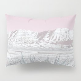 Mojave Snow // Red Rock Canyon Las Vegas Desert Landscape Light Pink Sky Vintage Photography Pillow Sham