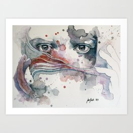 A sealed thought Art Print