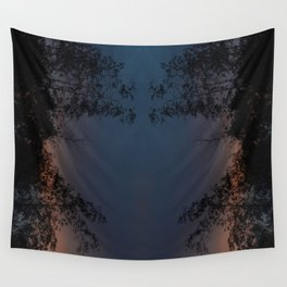 Mirrored Trees 2 Wall Tapestry