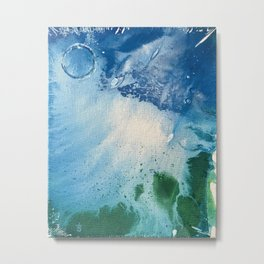 Environmental Blue and Green Painting # 7 Metal Print