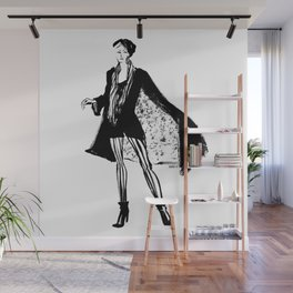 Woman with Cape Wall Mural