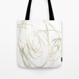 Beige and Brown Minimalist Abstract Line Drawing Tote Bag