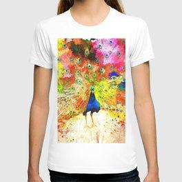 Peacock Grunge T-shirt