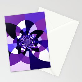 Purple Kaleidoscope Mandala Stationery Cards