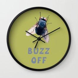 buzz off Wall Clock
