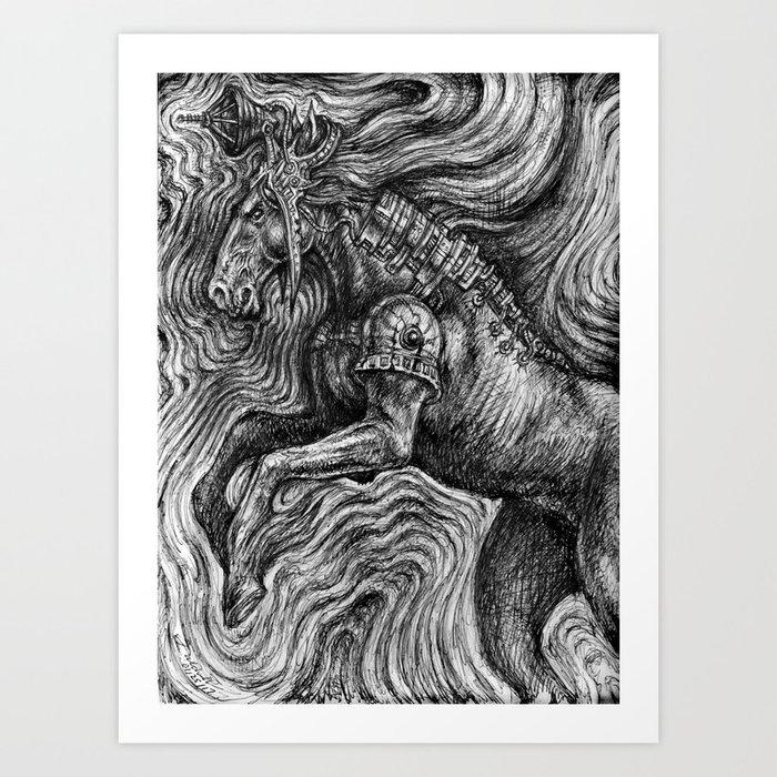 Horse Guardian Art Print