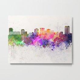 Norfolk skyline in watercolor background Metal Print