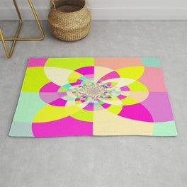 Bright & Pastel Kaleidoscope Rug