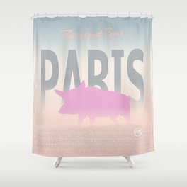 Paris - That is just boar Shower Curtain