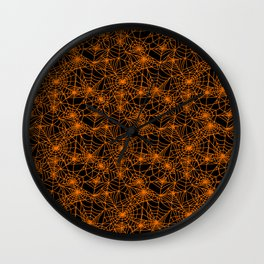 Spooky Spider Webs Wall Clock