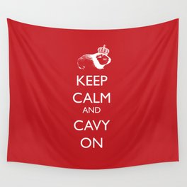 Keep Calm Cavy On Wall Tapestry