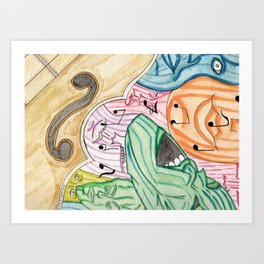 Faces of Music Art Print