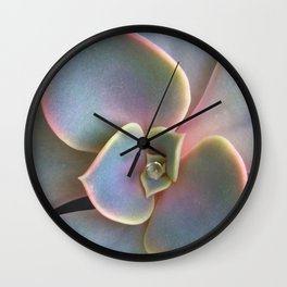 Succulent Dew Drop Wall Clock