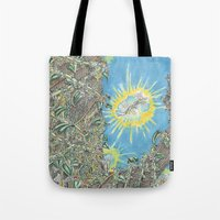 fairies Tote Bags featuring Fairies by David Domike