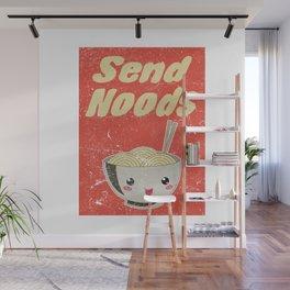 Send Noods Vintage Ramen Noodles Japanese Food Gift For Foodies Wall Mural