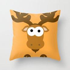 Minimal Moose Throw Pillow