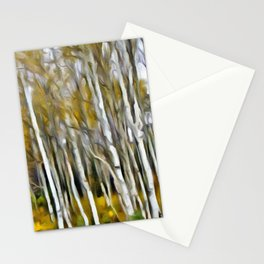 Yellow Aspens 1 by Leslie Harlow Stationery Cards
