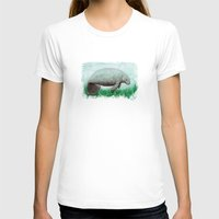 manatee T-shirts featuring The Manatee ~ Watercolor by Amber Marine by Amber Marine