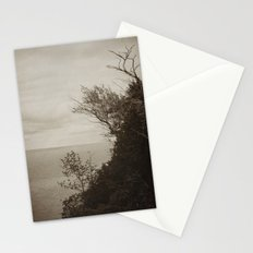 On Edge - Black and White Stationery Cards