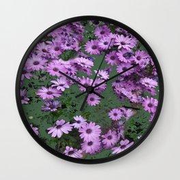 Lilac & Sage Color Purple Flowers Garden Wall Clock