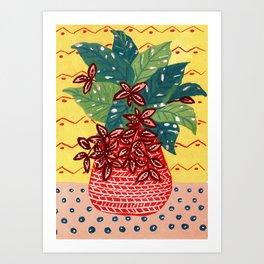 House Plant in Vase Art Print