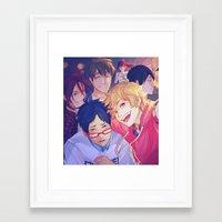 viria Framed Art Prints featuring free selfie by viria