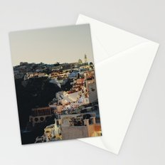 Fira at Dusk Stationery Cards