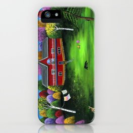 Red Bear Cottage iPhone Case