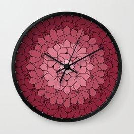 Misty Bouquet Wall Clock