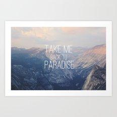 Yosemite Paradise  Art Print