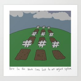Condemned To A Hashtag Art Print